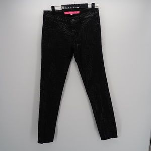 Tinsel Town Black Printed Slim Skinny Jeans Size 7